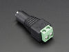 Female DC Power adapter - 2.1mm jack to screw terminal block