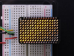 Adafruit LED Charlieplexed Matrix - 9x16 LEDs - Gelb