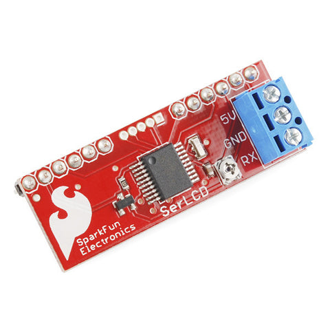 SparkFun Serial Enabled LCD Backpack