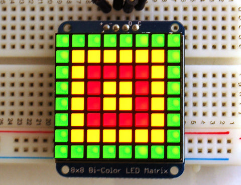 Adafruit Zweifarbige LED Square Pixel Matrix mit I2C Backpack