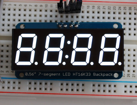 "Adafruit 0,56""  4-Ziffern 7-Segment Display +I2C Backpack - Weiß"