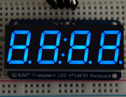 "Adafruit 0,56"" 4-Ziffern 7-Segment Display +I2C Backpack - Blau"