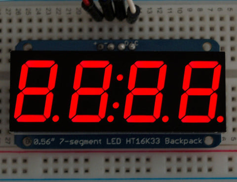 "Adafruit 0,56""  4-Ziffern 7-Segment Display +I2C Backpack - Rot"
