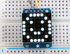 Adafruit Mini 8x8 LED Matrix +I2C Backpack - Ultra Bright White