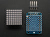Adafruit Mini-8x8 LED Punkt-Matrix-Anzeige +I2C PCB-Leiterplatte - Rot