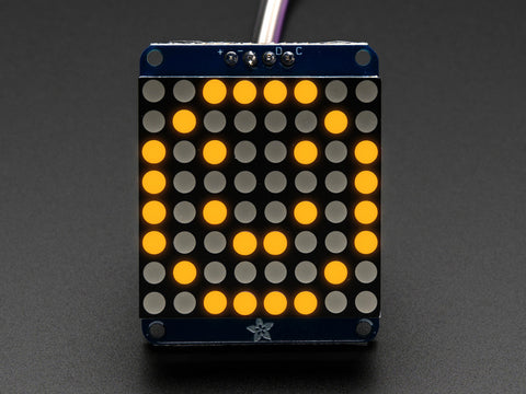Adafruit Mini 8x8 LED Matrix +I2C Backpack - Gelb