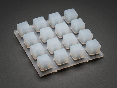 Silicone Elastomer 4x4 Button Keypad - for 3mm LEDs