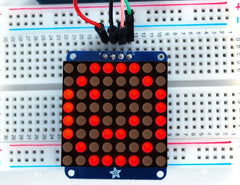 "Adafruit Small 1,2"" 8x8 LED Matrix I2C Backpack - Rot"