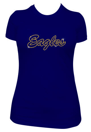 Eagles Rhinestone BELLA+CANVAS ® Women's Relaxed Jersey Short Sleeve Tee