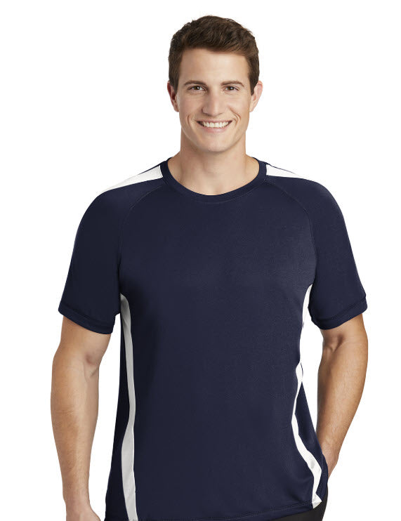Sport-Tek® Colorblock PosiCharge® Competitor™ Tee with embroidery