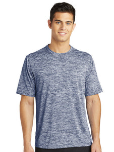 Sport-Tek® PosiCharge® Electric Heather Tee with embroidery - Mens and Womens