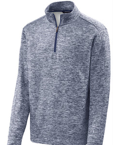 Sport-Tek® PosiCharge® Electric Heather Fleece 1/4-Zip Pullover with embroidery
