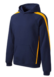 Sport-Tek® Sleeve Stripe Pullover Hooded Sweatshirt with embroidery