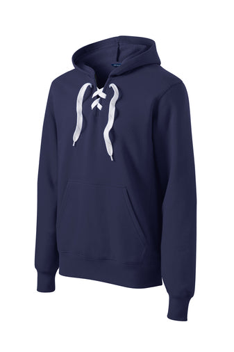Sport-Tek® Lace Up Pullover Hooded Sweatshirt with embroidery