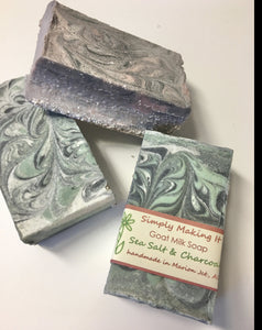 Sea Salt & Activated Charcoal - Soap