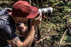 Male Photographer Shooting In The Outdoors