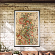 Load image into Gallery viewer, Harold Fisk Mississippi River Map Sheet 10 Framed Hanging In A Sun Room