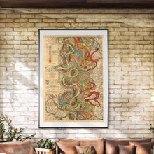 Load image into Gallery viewer, Harold Fisk Mississippi River Map Print Sheet 7