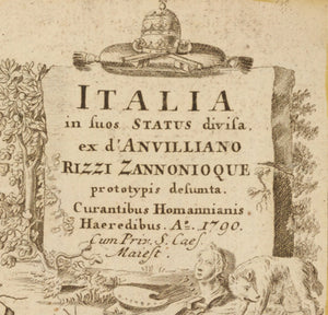 Vintage Italy Map Print From 1790 Map Nameplate