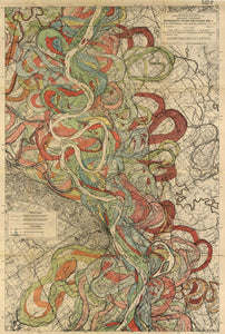 Harold Fisk Sheet 6 Mississippi River Map