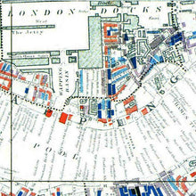 Load image into Gallery viewer, Charles Booth London Poverty Map Print Close Up Section