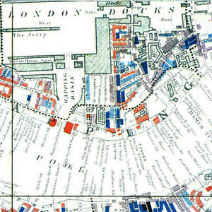 Charles Booth London Poverty Map Print Close Up Section