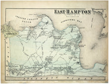 Load image into Gallery viewer, 1873 Beer's Map Of East Hampton Fine Art Print