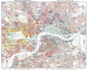 Charles Booth London Poverty Map Print