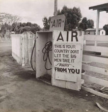 Load image into Gallery viewer, Dorothea Lange Kern County CA Gas Station AIR Sign