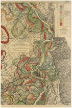 Load image into Gallery viewer, Harold Fisk Mississippi River Map Sheet 5