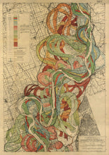 Load image into Gallery viewer, Harold Fisk Mississippi River Map Sheet 2