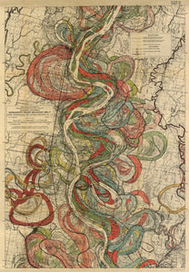 Harold Fisk Mississippi River Map Sheet 10