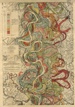 Load image into Gallery viewer, Harold Fisk Mississippi River Map Sheet 7