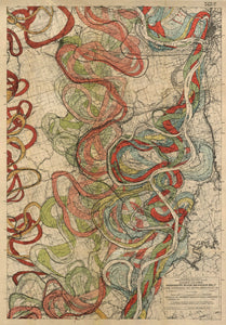 Cartographer Harold Fisk Mississippi River Map Fine Art Print Sheet 11