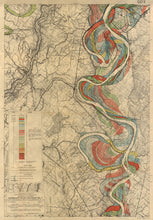 Load image into Gallery viewer, Harold Fisk Mississippi River Map Print Sheet 14