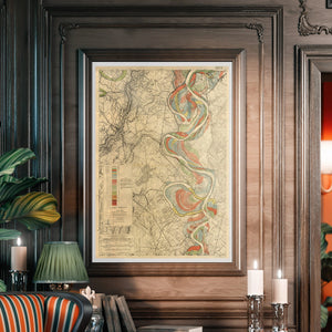 Harold Fisk Mississippi River Map Print Sheet 14