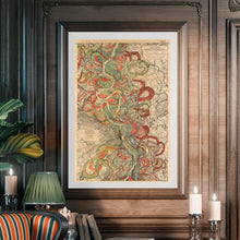 Load image into Gallery viewer, Harold Fisk Sheet 6 Mississippi River Map Framed Hanging In A Library