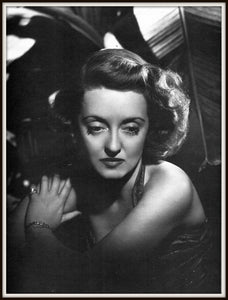 Bette Davis Dark Victory Publicity Photo Reprint In A Simple Black Metal Frame