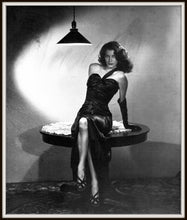 Load image into Gallery viewer, Ava Gardner Publicity Photo for The Killers Framed In A Simple Black Metal Frame