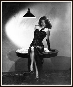 Ava Gardner Publicity Photo for The Killers Framed In A Simple Black Metal Frame