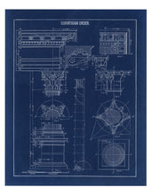 Load image into Gallery viewer, Corinthian Column Blueprint Architectural Drawing