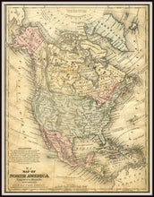Load image into Gallery viewer, Mitchell's No. 4 Map of North America, School & Family Geography Print