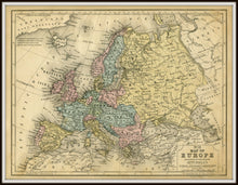 Load image into Gallery viewer, Mitchell's No. 21 1852 Map of Europe & Russia Reproduction Art Print