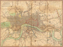 Load image into Gallery viewer, 1813 London Map Print
