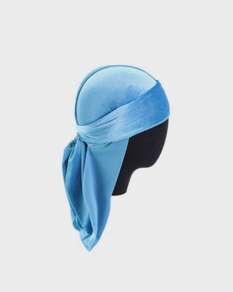 North Carolina Blue Velvet Durag