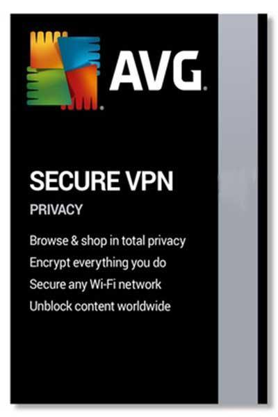 AVG SECURE VPN - WINDOWS AND ANDROID 1 YEAR LICENSE