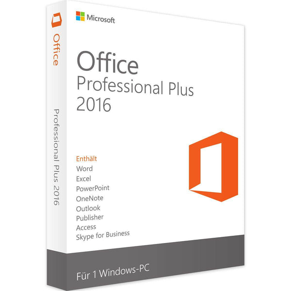 MICROSOFT OFFICE PROFESSIONAL PLUS 2016 - INSTANT DELIVERY - ORIGINAL NEW KEY CODE!