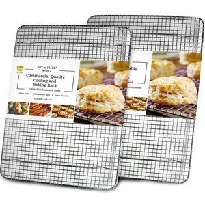 Ultra Cuisine 10x14.75in (2 Pack) Baking and Cooling Rack (Jelly Roll Pan Size - 2 pack)