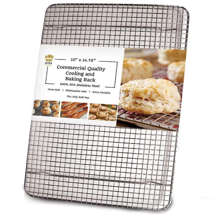 Ultra Cuisine 10x14.75in Baking and Cooling Racks (Jelly Roll Pan Size)