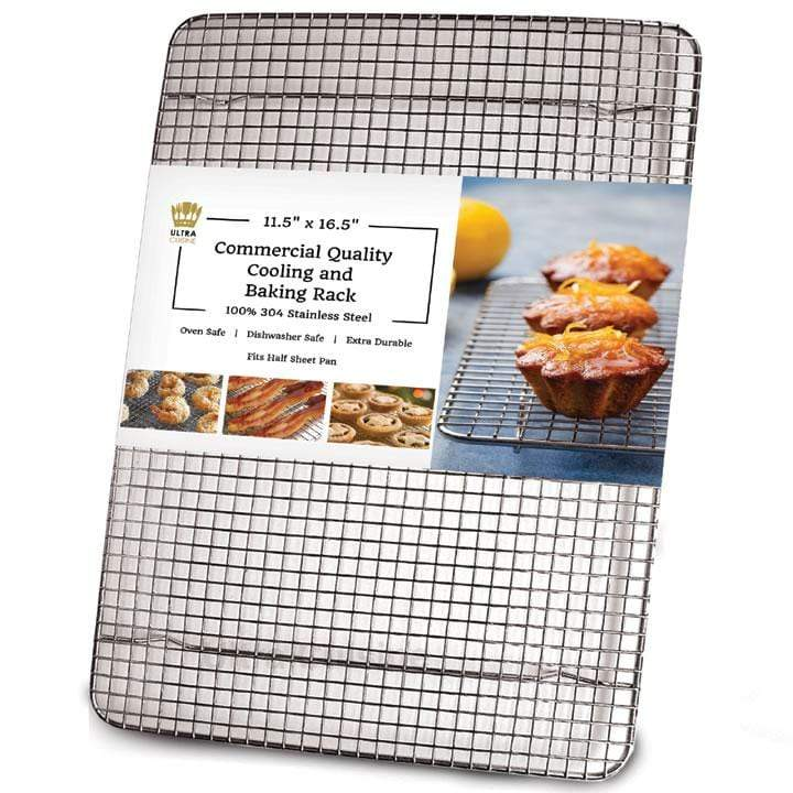 Ultra Cuisine 11.5x16.5in Baking and Cooling Racks (Half Pan Size)